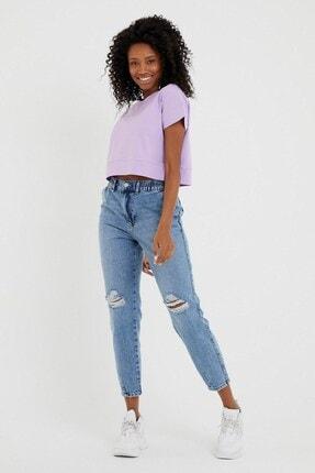 VENA Kadın Med Blue Norah Slouchy Denim Pantolon