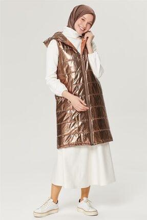Armine Kadın Metalik Renk Şişme Yelek 21y4215