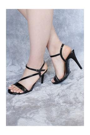 Punto Kadın Tek Bantlı Arkası Açık Topuklu Ayakkabı