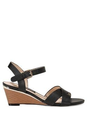Nine West HEWELL 1FX Siyah Kadın Dolgu Topuklu Sandalet 101028315