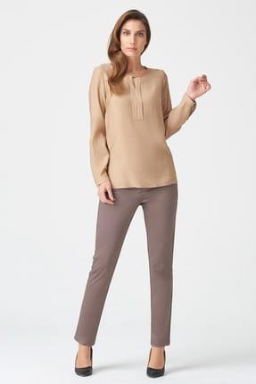 Naramaxx Kadın Toprak Rengi Bluz 17K11118Y917