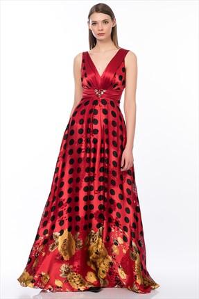 Gizia Kadın Kırmızı Elbise M13K5O1581T4