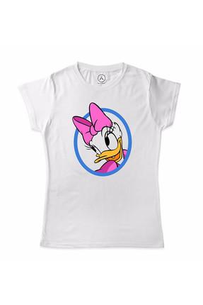 Art T-shirt Unisex Çocuk Beyaz Daısy Duck Çocuk T-Shirt ARTKID0008BU