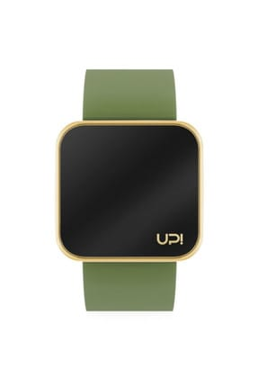 UpWatch Unisex Kol Saati 2UPWS2018168 TOUCH SHINY GOLD AND GREEN STRAP