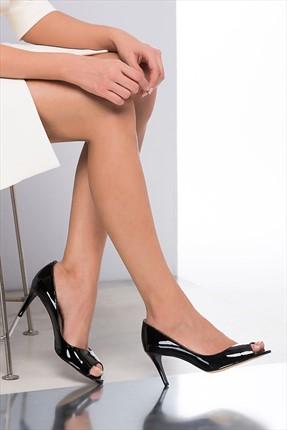 İnci Hakiki Deri Siyah Kadın Topuklu Ayakkabı 120120121074