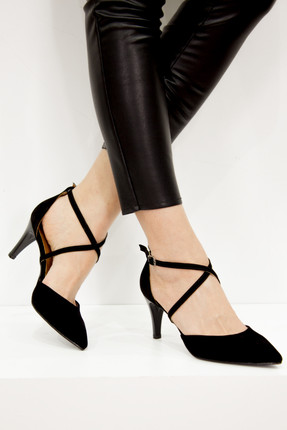 Fox Siyah Kadın Topuklu Ayakkabı D654054802