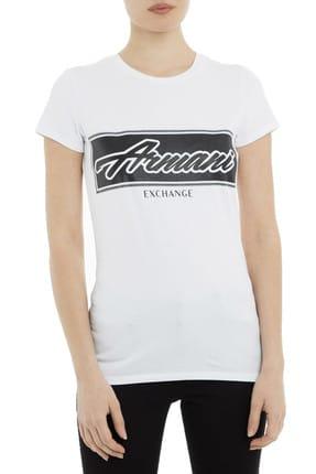 Armani Beyaz Kadın T-Shirt 3GYTCQ YJS8Z 1000