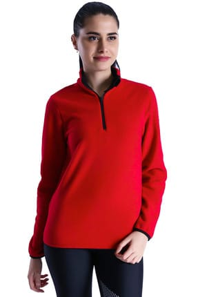 Sportive Kadın Sweatshirt -  Halfwon Kadın Kırmızı Polar  - 710081-00C