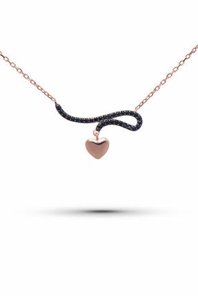 Ejoya Zircone Taşlı Kalp Gümüş Kolye