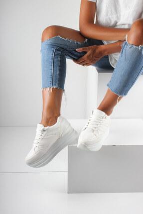 İnan Ayakkabı Beyaz Kadın Spor Ayakkabı Y1090