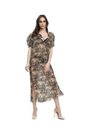 Armes Kadın  V Yaka Kaftan Elbise Pareo 9223801