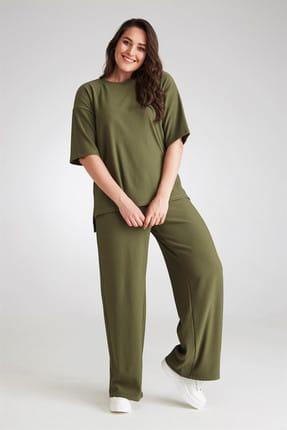 Seamoda Kadın Kaşkorse İkili Takım-Yeşil-Bb PRA-236662-069293