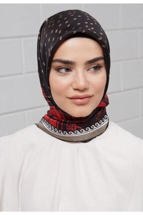 Setrms Kadın Siyah Desenli Eşarp