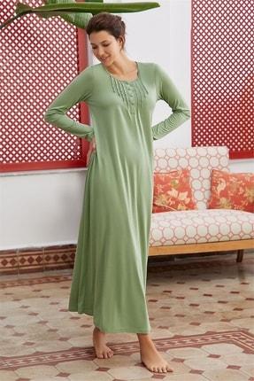 Eros Kadın Yeşil Uzun Kollu Gecelik