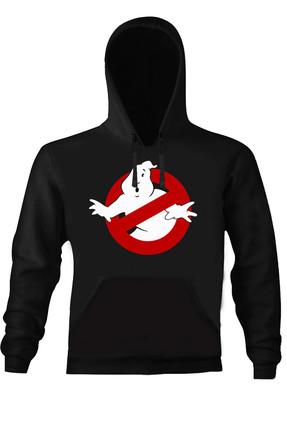 Art T-shirt Erkek Siyah Ghost Busters Kapüşonlu Unısex Sweatshirt ART018368M