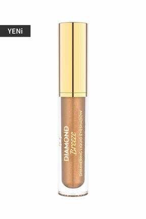 Golden Rose Likit Göz Farı - Diamond Breeze Shimmering Liquid Eyeshadow 02 Iconic Bronze 8691190965631