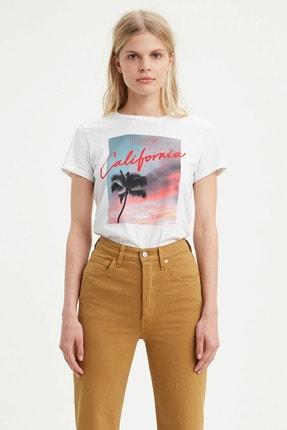 Levi's Kadın Beyaz The Perfect T-Shirt 17369-0917