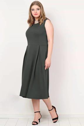 ANGELINO Kadın Haki Cepli Elbise KL777