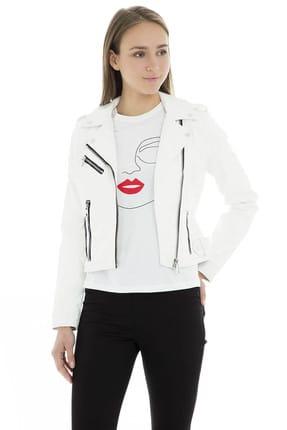 Vero Moda Kadın Beyaz Suni Deri Ceket - 10209259