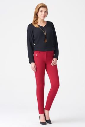Naramaxx Kadın Koyu Kırmızı Pantolon 17K11113Y353