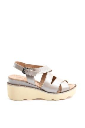 Greyder Kadın Vızon Sedef Dolgu Topuklu Ayakkabı 9Y2AS53543