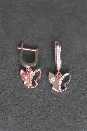 Bella Gloria Kadın Kelebek Gümüş Küpe TGP0066