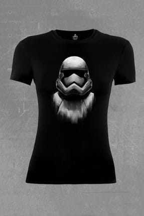 Lord Star Wars - Storm Trooper Siyah Bayan Tshirt - bs-677