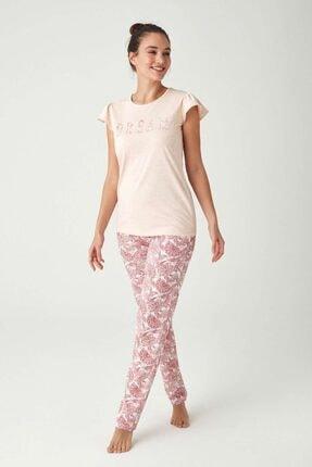 Mod Collection Kadın Pembe Melanj Pijama Takımı