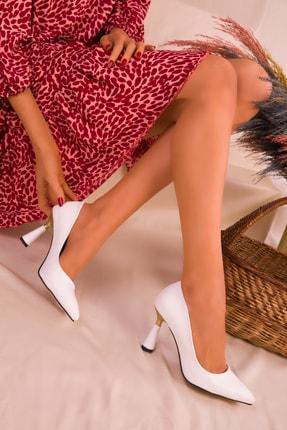 SOHO Beyaz Kadın Klasik Topuklu Ayakkabı 15783