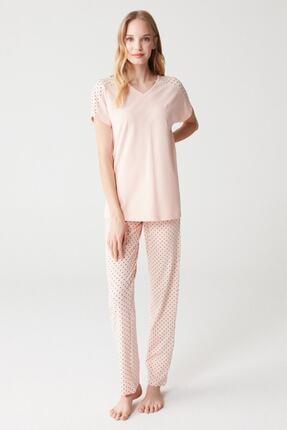 Mod Collection Kadın Somon Pijama Takımı