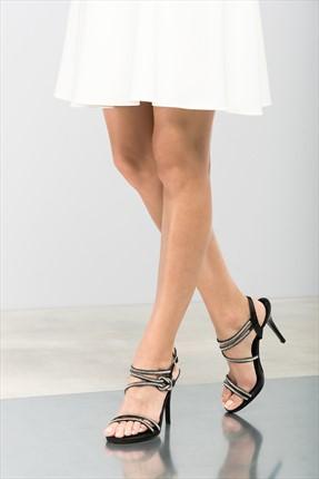 İnci Hakiki Deri Siyah Kadın Topuklu Ayakkabı 120120287046