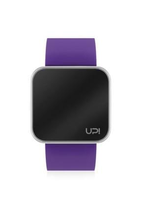 UpWatch Unisex Kol Saati 2UPWS2018529 TOUCH SHINY SILVER AND PURPLE STRAP