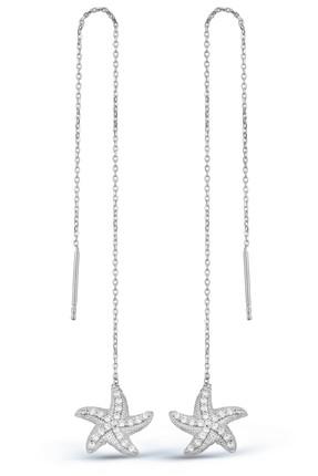 Argentum Concept Deniz Yıldızlı Gümüş Zincir Küpe