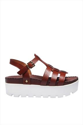 İnci Hakiki Deri Taba Kadın Dolgu Topuk Ayakkabı 120120275010