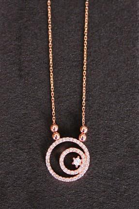 Bella Gloria Kadın Lava Rose Gümüş Kolye TGK0127