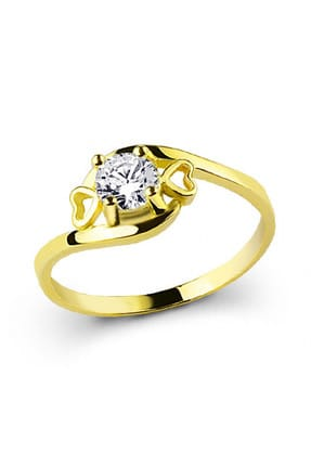 Ejoya Kadın Altın Kalpler Yüzük MLK1006 67415