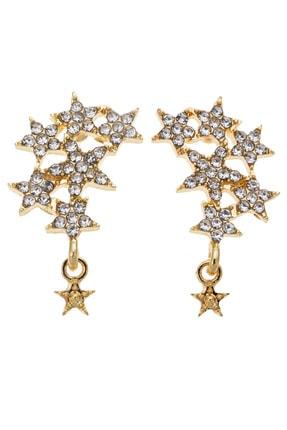Pelin Aksesuar Taşlı Yıldızlar Küpe
