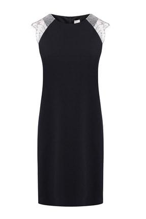 W Collection Kadın Siyah Kolsuz Elbise