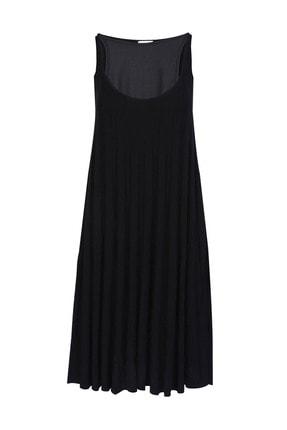 W Collection Kadın Askılı Triko Elbise
