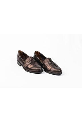 Venüs Hakiki Deri Parlak Kadın Oxford Günlük Klasik Babet Ayakkabı