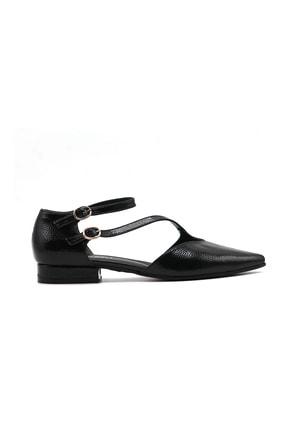 Kriste Bell Kadın Siyah Suni Deri Ayakkabı