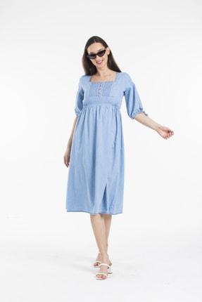 Pitti Kadın Mavi Elbise