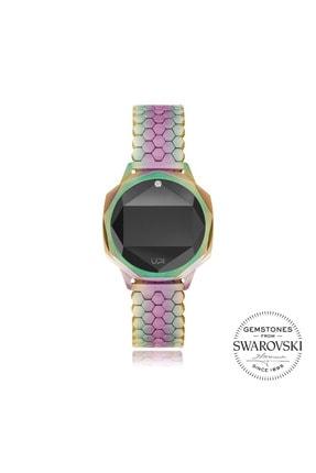 UpWatch Upwatch Iconic Colorfull One Set With Swarovski Topaz Bayan Kol Saati Upwatch256