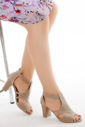 Ayakland Kadn Süet Topuklu Ayakkabı