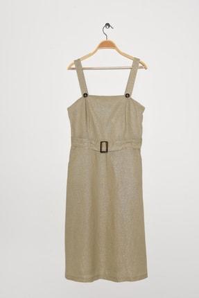 Kadın Altın Elbise 9YAK88658PX