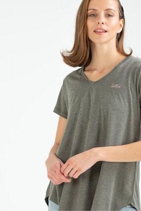 Speedlife Kadın Tişört Slashing Haki