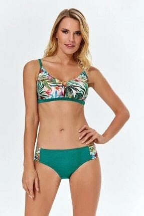 Argento Kadın Yeşil Desenli Bikini Takımı 1015-1157
