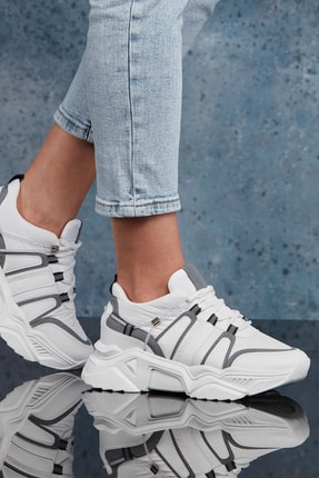 DARK SEER Beyaz Kadın Sneaker DS.PMD252K2043