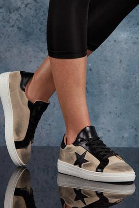 DARK SEER Bej Siyah Kadın Sneaker DS.DYK02