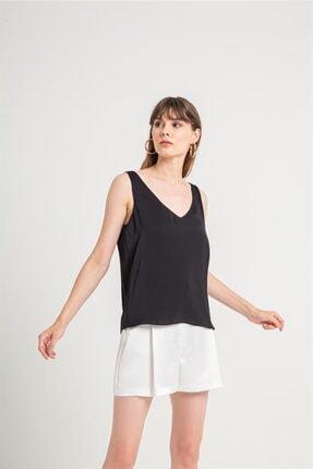 Rue Içi Top Detaylı Derin V Bluz